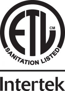 Certifiication ETL Sanitation Intertek